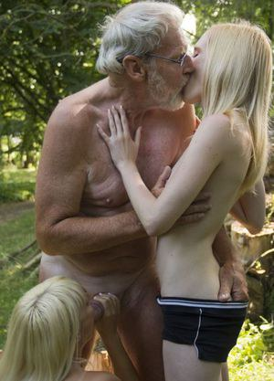 Blonde And Old Man Pics